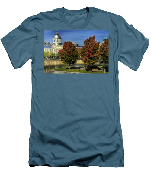 Men's T-Shirt (Slim Fit) featuring the photograph Bonsecours Market by Nicola Nobile