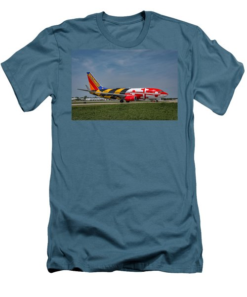 Boeing 737 Maryland Men's T-Shirt (Slim Fit) by Guy Whiteley