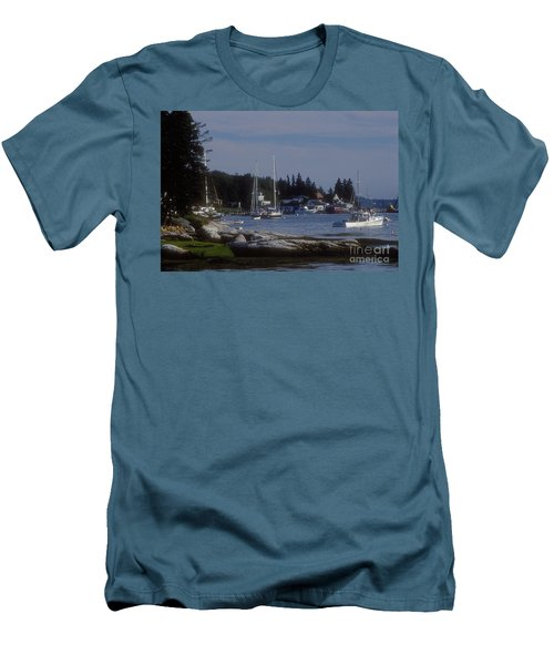 Boothbay Harbor In Maine Men's T-Shirt (Athletic Fit)