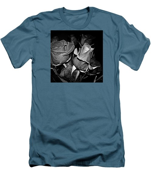 Boquet Of Roses Men's T-Shirt (Slim Fit) by Ester  Rogers