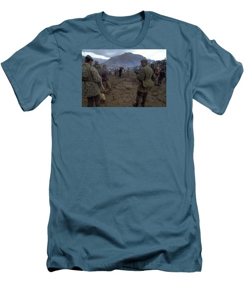 Men's T-Shirt (Slim Fit) featuring the photograph Border Control by Travel Pics