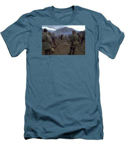 Border Control Men's T-Shirt (Slim Fit) by Travel Pics