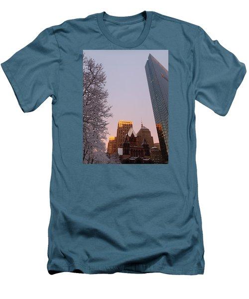 Boston 02/05/16 Men's T-Shirt (Slim Fit) by Robert Nickologianis