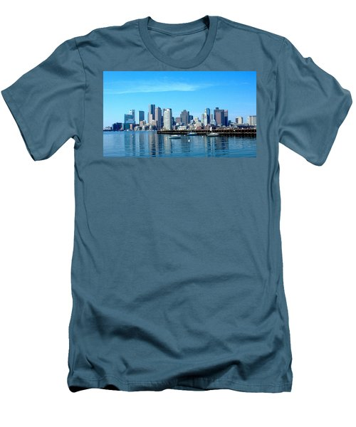 Boston Skyline A Men's T-Shirt (Athletic Fit)