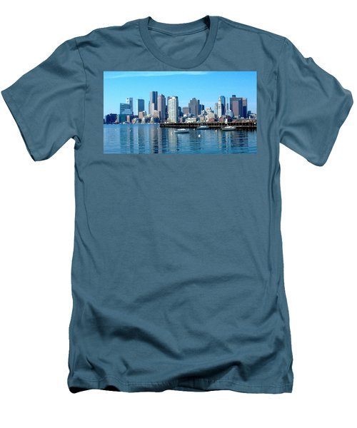 Boston Skyline B Men's T-Shirt (Athletic Fit)
