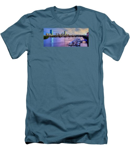Boston Skyline Sunset Men's T-Shirt (Slim Fit) by Joann Vitali