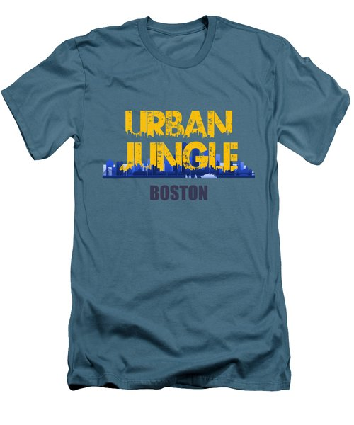Boston Urban Jungle Shirt Men's T-Shirt (Slim Fit) by Joe Hamilton