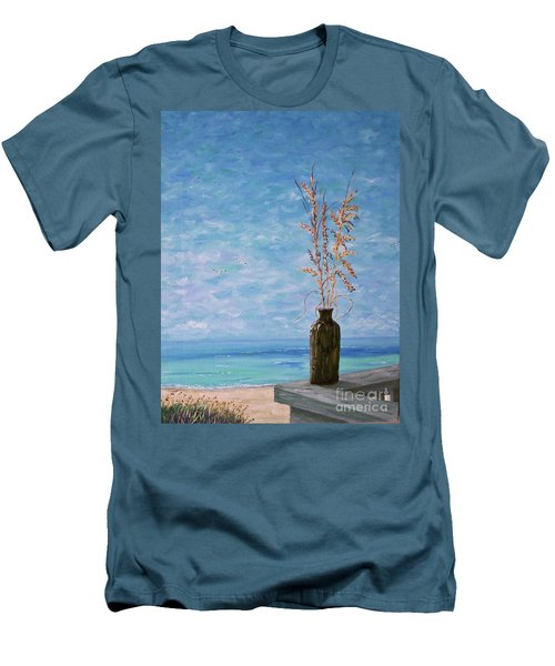Bottle And Sea Oats Men's T-Shirt (Athletic Fit)