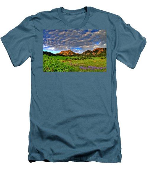 Boulder Spring Wildflowers Men's T-Shirt (Slim Fit) by Scott Mahon