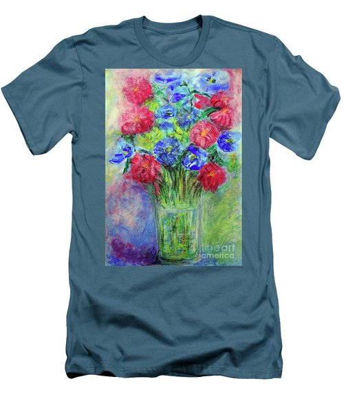 Men's T-Shirt (Slim Fit) featuring the painting Bouquet by Jasna Dragun
