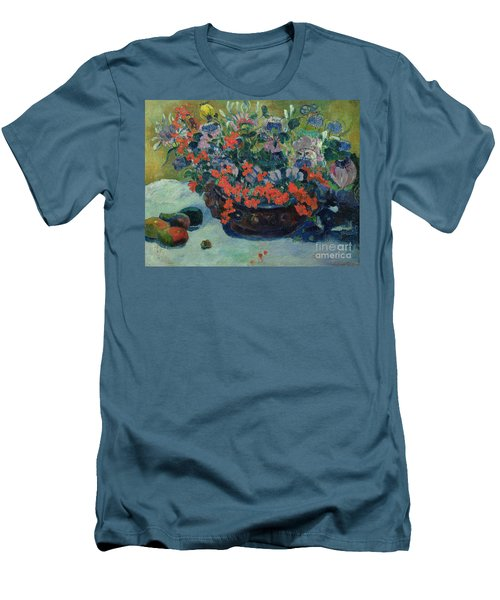 Bouquet Of Flowers Men's T-Shirt (Slim Fit) by Paul Gauguin