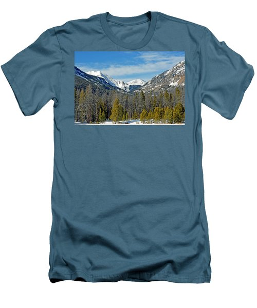 Bowen Mountain In Winter Men's T-Shirt (Athletic Fit)