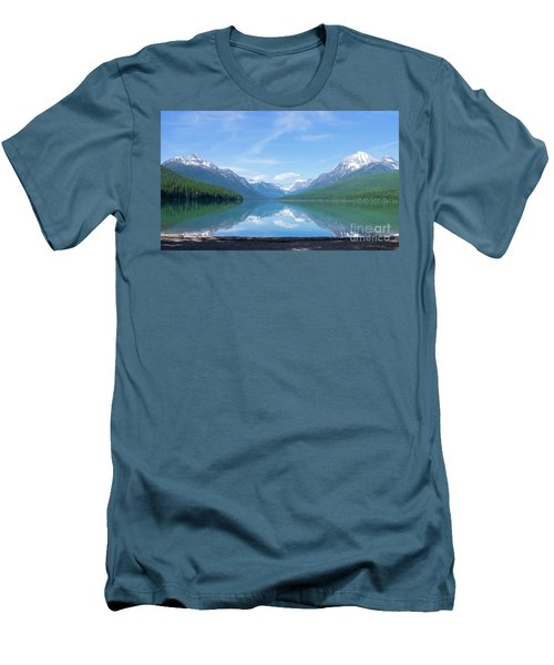 Bowman Lake Mt Men's T-Shirt (Athletic Fit)
