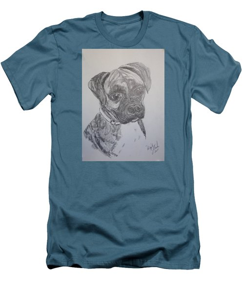 Men's T-Shirt (Slim Fit) featuring the drawing Boxer by Marilyn Zalatan