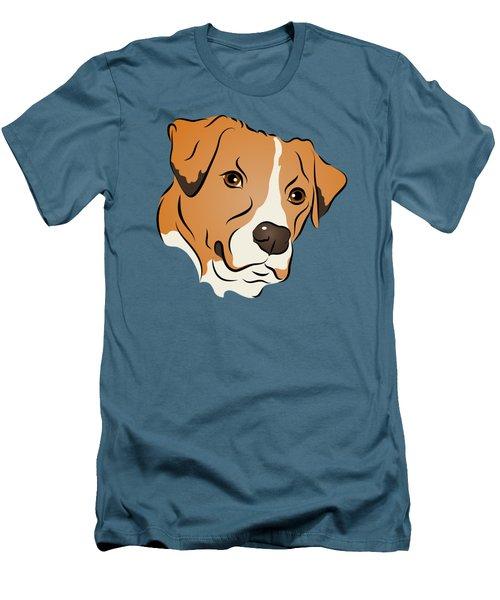 Boxer Mix Dog Graphic Portrait Men's T-Shirt (Slim Fit) by MM Anderson