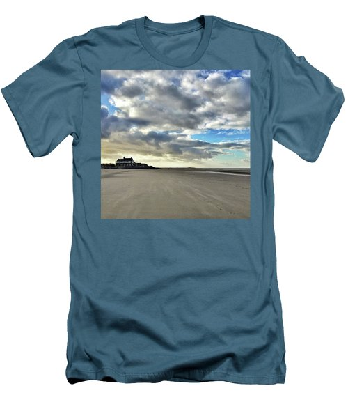 Brancaster Beach This Afternoon 9 Feb Men's T-Shirt (Slim Fit) by John Edwards