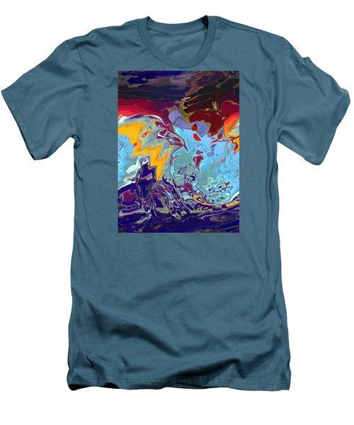 Breaking Waves Men's T-Shirt (Slim Fit) by Alika Kumar