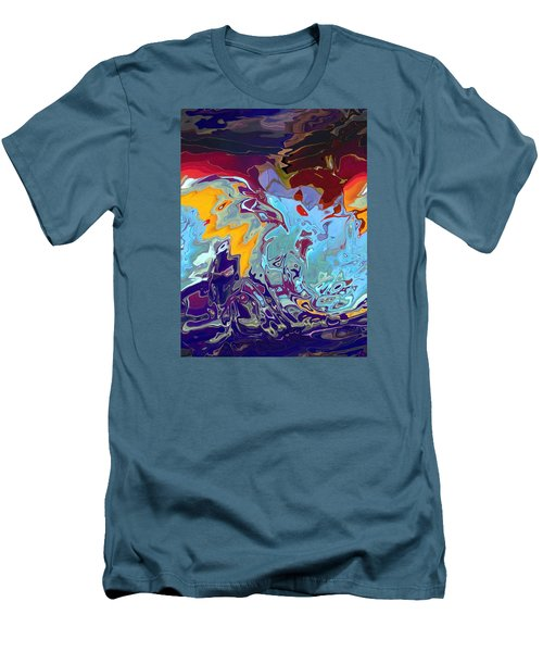 Breaking Waves Men's T-Shirt (Athletic Fit)