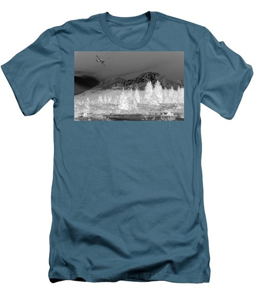 Men's T-Shirt (Slim Fit) featuring the photograph Breathtaking In Black And White by Joyce Dickens