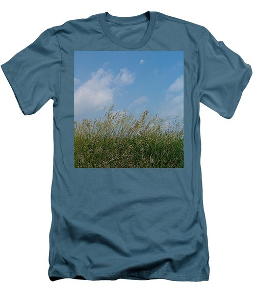 Men's T-Shirt (Slim Fit) featuring the photograph Breezy Day by Sara  Raber