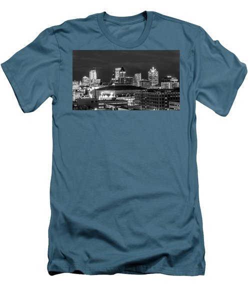 Men's T-Shirt (Slim Fit) featuring the photograph Brew City At Night by Randy Scherkenbach