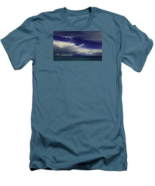 Men's T-Shirt (Athletic Fit) featuring the photograph Brewing Up A Storm by Nareeta Martin