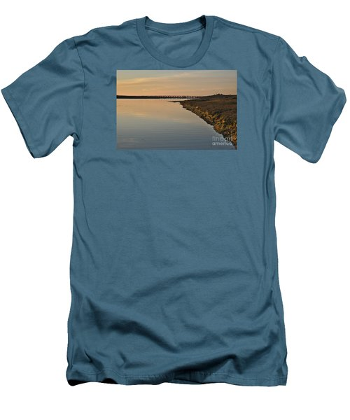 Bridge And Ria At Sunset In Quinta Do Lago Men's T-Shirt (Athletic Fit)