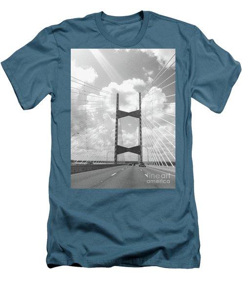 Bridge Clouds Men's T-Shirt (Athletic Fit)
