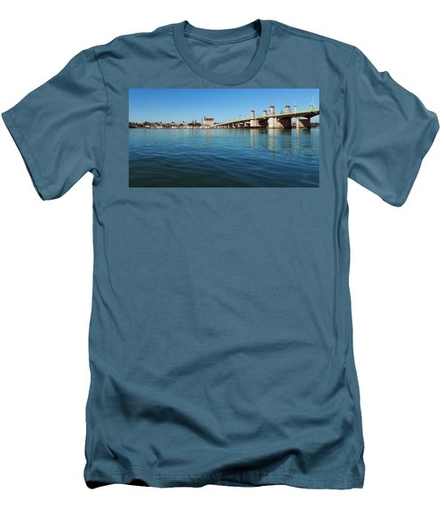Men's T-Shirt (Slim Fit) featuring the photograph Bridge Of Lions, St. Augustine by Rod Seel
