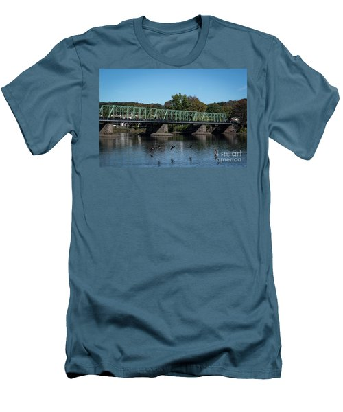 Bridge To Lambertville 2 Men's T-Shirt (Athletic Fit)