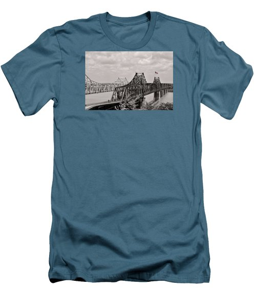Bridges At Vicksburg Mississippi Men's T-Shirt (Athletic Fit)