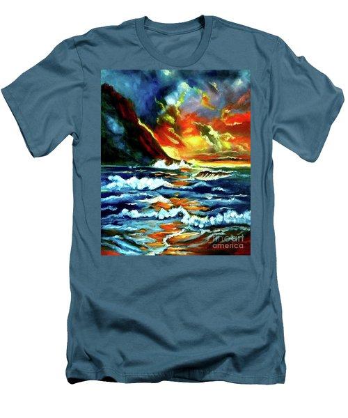 Brilliant Hawaiian Sunset Men's T-Shirt (Athletic Fit)