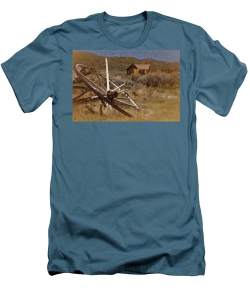 Men's T-Shirt (Slim Fit) featuring the photograph Broken Spokes by Lana Trussell