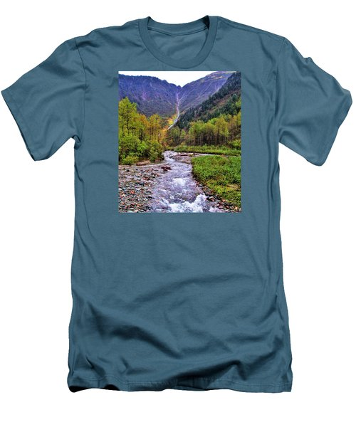 Brook Men's T-Shirt (Slim Fit) by Martin Cline