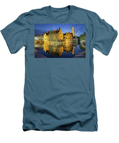 Brugge Twilight Men's T-Shirt (Slim Fit) by JR Photography