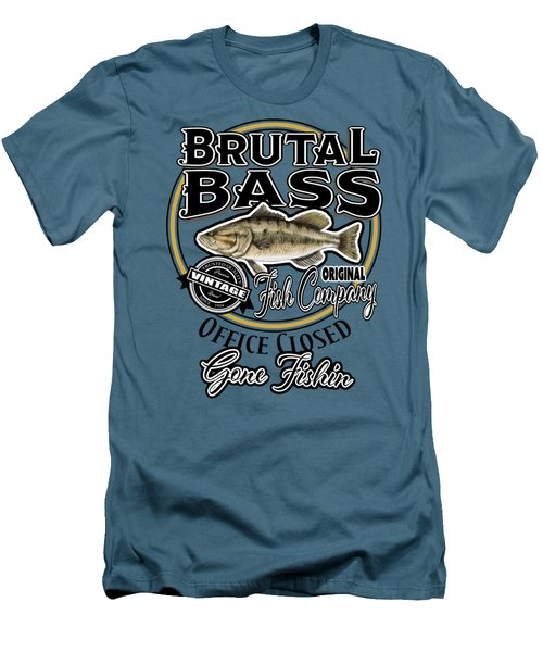 Brutal Bass Men's T-Shirt (Athletic Fit)