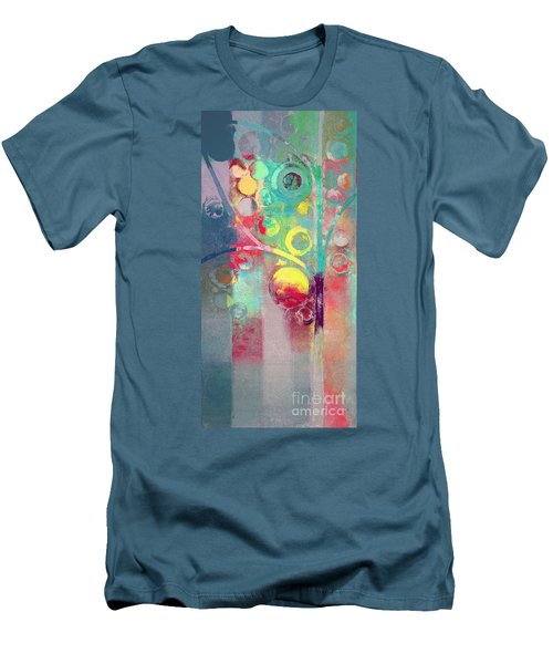 Men's T-Shirt (Slim Fit) featuring the painting Bubble Tree - 285l by Variance Collections