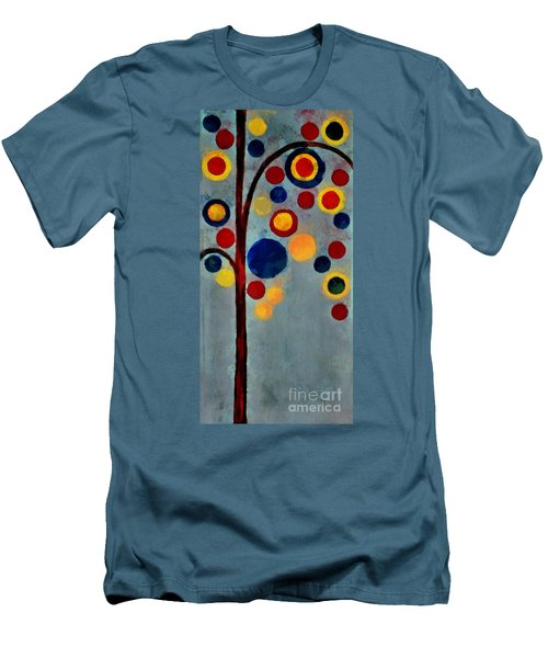 Bubble Tree - Dps02c02f - Right Men's T-Shirt (Slim Fit) by Variance Collections