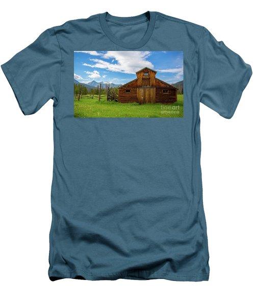 Buckaroo Barn Men's T-Shirt (Slim Fit) by John Roberts