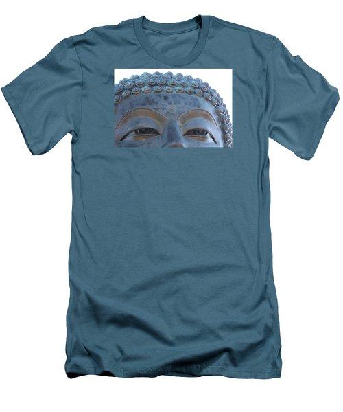 Buddha Eyes, Ngong Ping Village, Hong Kong Men's T-Shirt (Slim Fit) by Jennifer Mazzucco