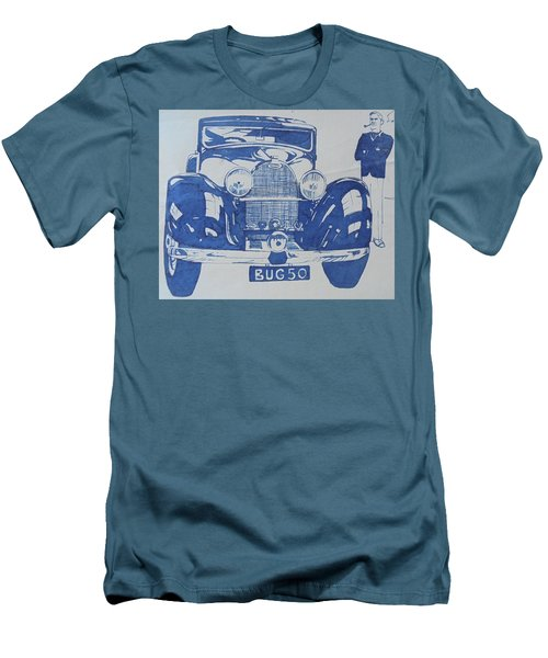 Men's T-Shirt (Slim Fit) featuring the drawing Bugatti by Mike Jeffries