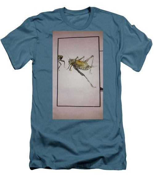 Bugs And Blooms Album Men's T-Shirt (Slim Fit) by Debbi Saccomanno Chan
