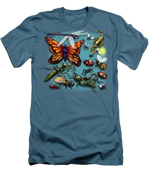 Men's T-Shirt (Slim Fit) featuring the painting Bugs by Kevin Middleton