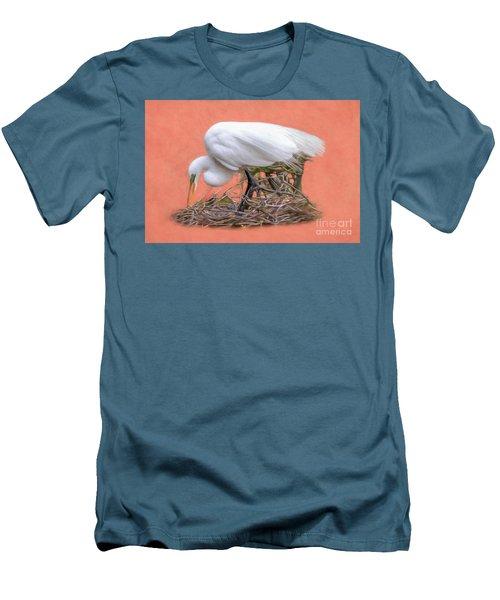 Building A Nest Men's T-Shirt (Slim Fit) by Marion Johnson