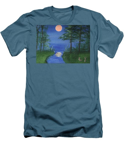 Bunnies In The Garden At Midnight Men's T-Shirt (Athletic Fit)