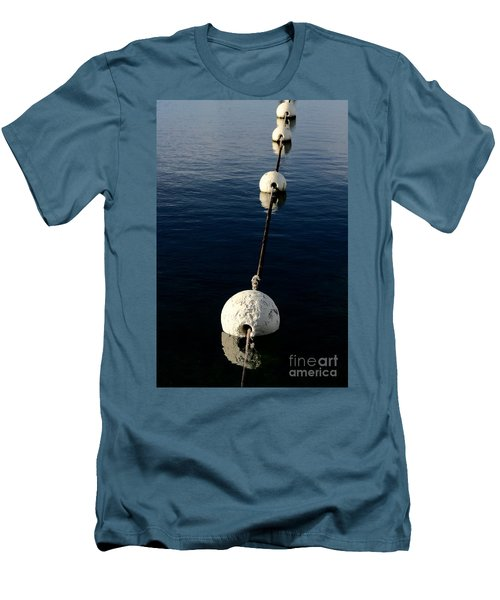 Men's T-Shirt (Athletic Fit) featuring the photograph Buoy Descending by Stephen Mitchell