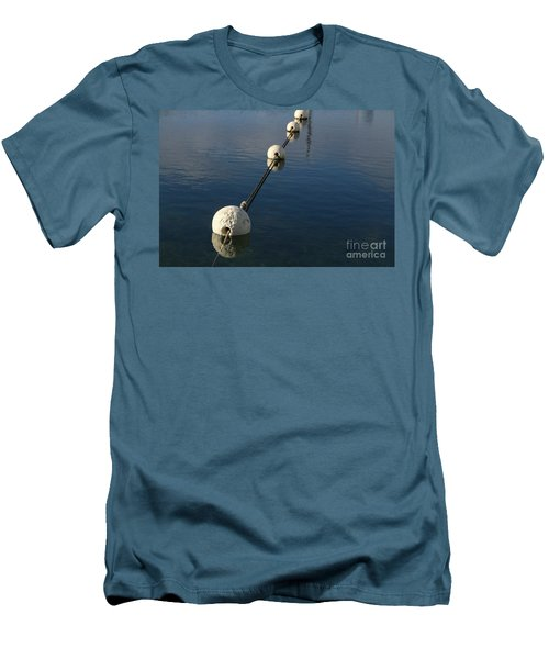 Men's T-Shirt (Athletic Fit) featuring the photograph Buoys In Aligtnment by Stephen Mitchell