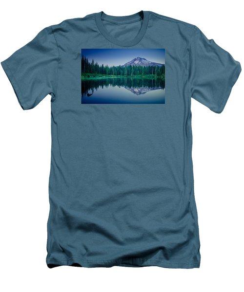Burnt Lake Reflection Men's T-Shirt (Athletic Fit)