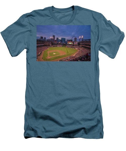Busch Stadium St. Louis Cardinals Ball Park Village Twilight #3c Men's T-Shirt (Athletic Fit)