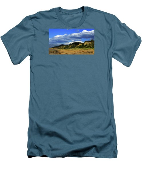 Men's T-Shirt (Athletic Fit) featuring the photograph Bushy Beach by Nareeta Martin